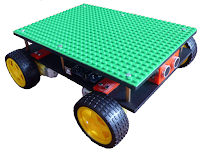 Robot car chassis with LEGO platform
